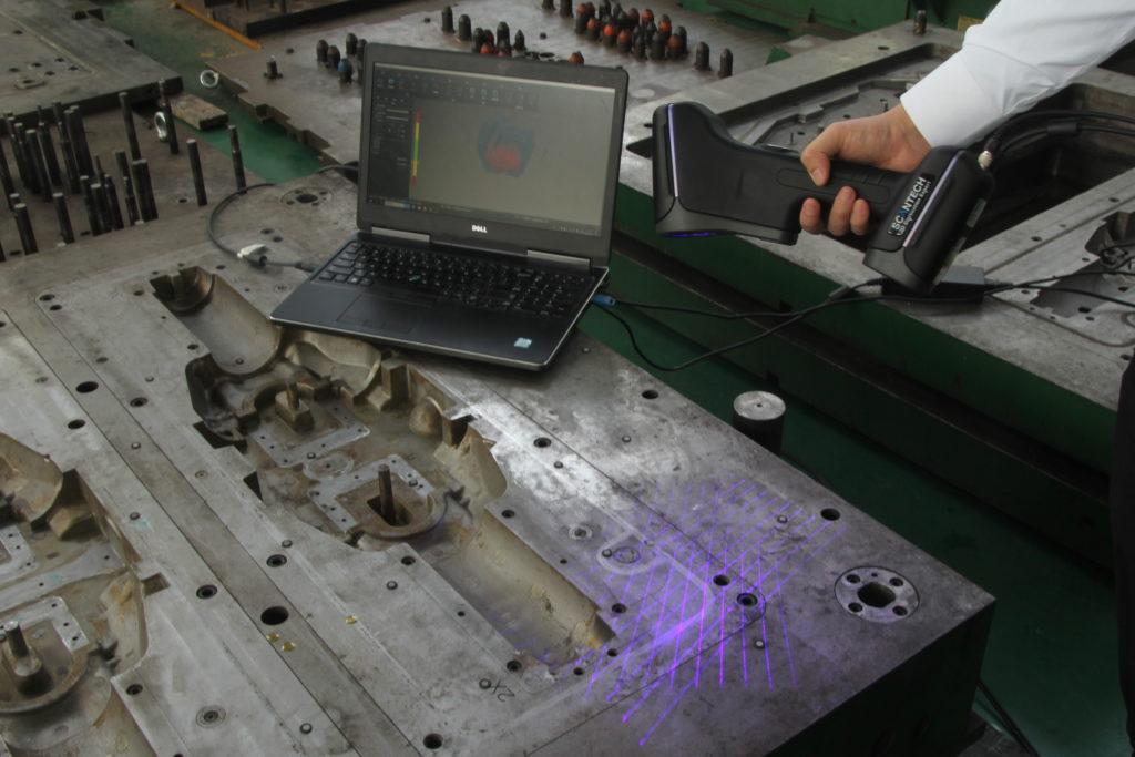 Skanowanie 3D w celu Inżynierii Odwrotnej narzędzia Skanerem 3D