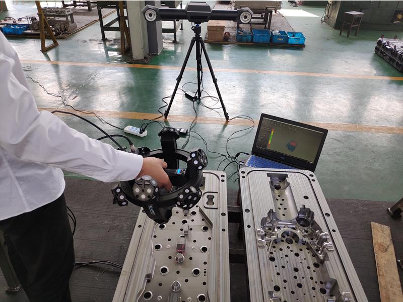 Bezpunktowy pomiar narzędzia skanerem 3D TrackScan