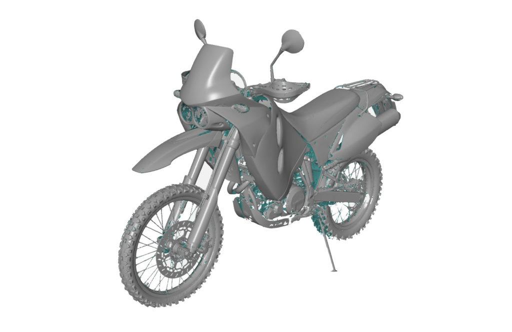 Skanowanie 3D motocykla KTM 640 Adventure