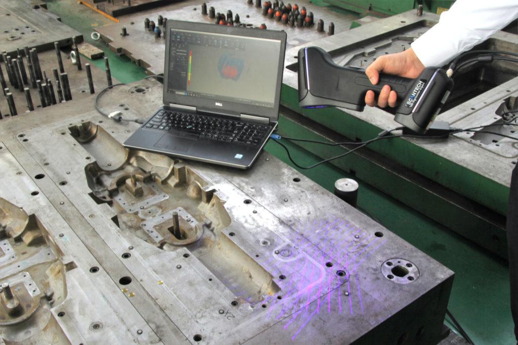 Skanowanie 3D narzędzia skanerem 3D Scantech AXE