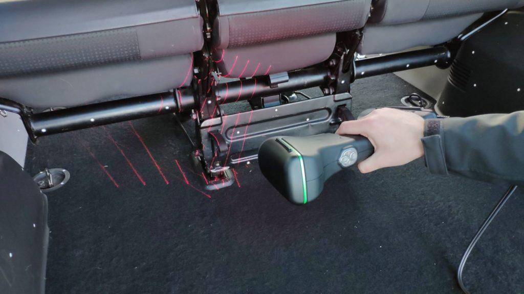 Skanowanie 3D wnętrza samochodu