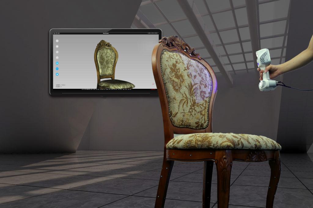 Skanowanie 3D wraz z teksturą HD zabytkowego krzesła