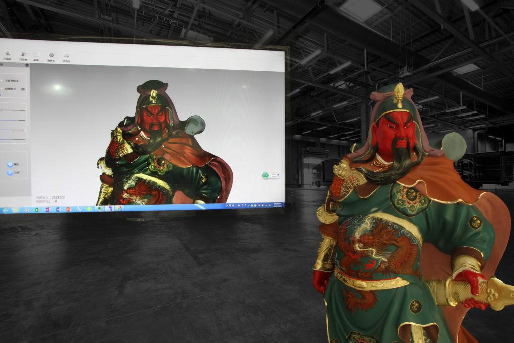 Skanowanie 3D wraz z teksturą HD rzeźby