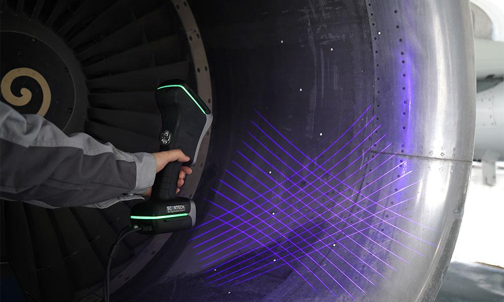 Rastr linii generowany przez Ręczny Laserowy Skaner 3D ScanTech KSCAN Magic