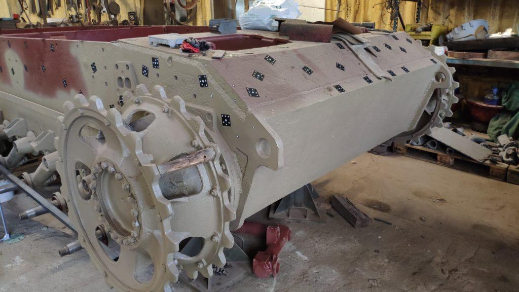 Skanowanie 3D wanny czołgu