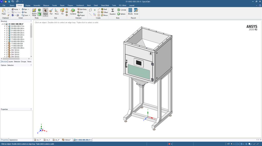 Projektowanie CAD Inzynieria Odwrotna Maszyn ANSYS Spaceclaim