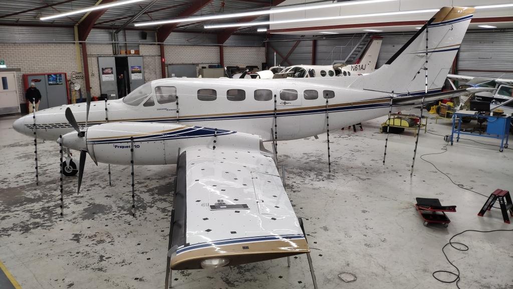 Pomiar fotogrametryczny samolotu Cessna skanerem 3D Scantech KSCAN