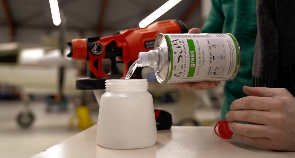 Profesjonalny spray do skanowania 3D AESUB Green