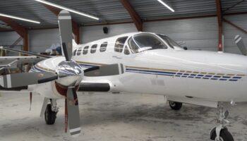 Usluga skanowania 3d samolotu cessna 441 skanerem 3d scantech kscan